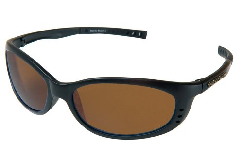 Ocean Waves Sunglasses Atlantic Beach 4 Ocean Waves Atlantic Beach 2 Sunglasses With Poly Non Mirrored Amber Lenes   Black  Amber