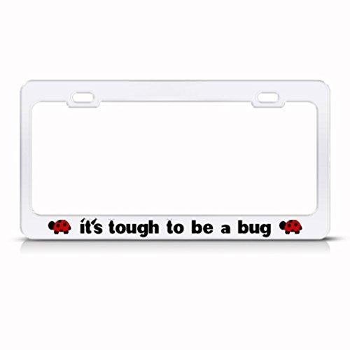 Ladybug W// Hearts  Chrome Metal License Plate Frame
