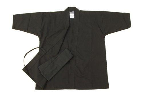 Halloween Children's Ninja Uniform/ Martial Art Costume! Black/Red (Black, La...