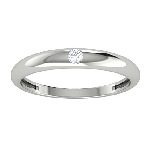 Designer Silver Plated Single Stone Solitaire Ring For ()