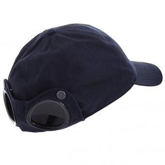 53e56a7cb83 CP Company CP Goggle Cap Navy  Amazon.co.uk  Clothing