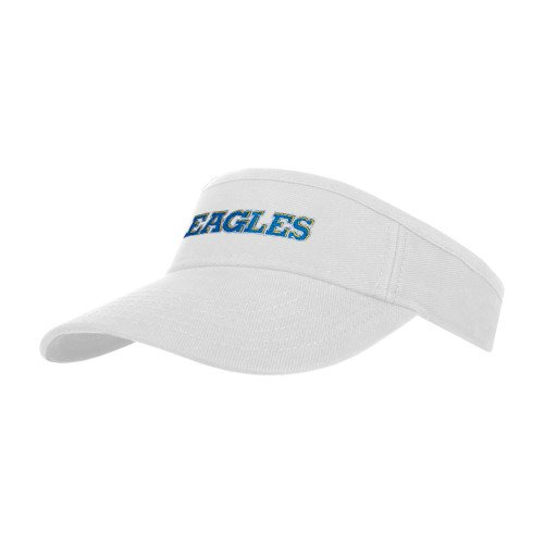 Pensacola White Brushed Bull Denim Visor 'Eagles'