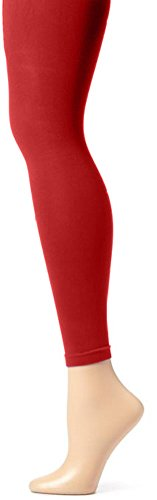Butterfly Hosiery Girls' Kids Childerns Solid Colored Dance Ballet Custume Seamless Opaque Footless Tights Leggings Stocking Red 2-4