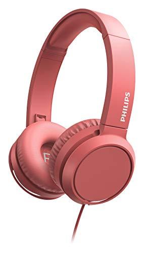 Philips H4105Rd/00 On-Ear-Koptelefoon Met Microfoon (Afstandsbediening In Snoer, Opvouwbaar Design, Schuine Aansluiting…