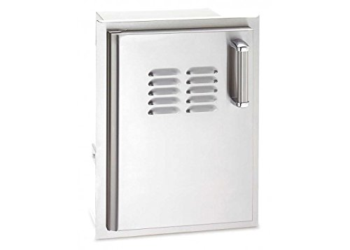 Fire Magic 53820SC-TL Premium Flush Mount 14 inch Left Hinged Soft Close Single Access Door Tank Tray Louvers
