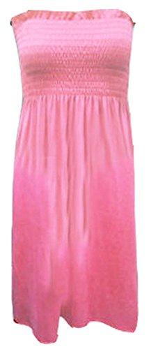 Spalline Senza Forti Baby 22 Da Da Pink UK Sottile Vestito Top Abito Donna A Maglia Jersey Boobtube Donna Fascia Taglie Top 8 Nuovo 6wXqIpq