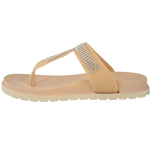 Chaussures Chair Couleur Gel Sandales Femmes Confort Pointure Diamant Été Compensé Matelassé 7wzHv0qg