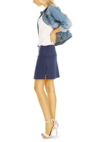 bestyledberlin Bleu Femme Marine Jupe Trapze wCwqnT6Bx
