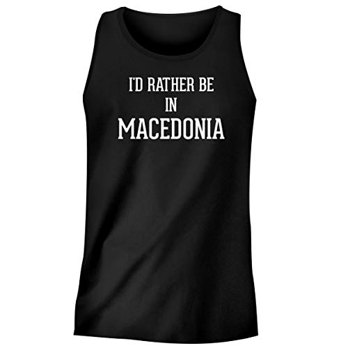 One Legging it Around I'd Rather Be in Macedonia - Men's Funny Soft Adult Tank Top, Black, Medium