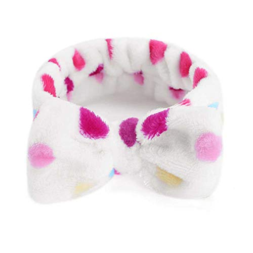 Cute Bow-Knot Women Elastic Headbands For Wash Face