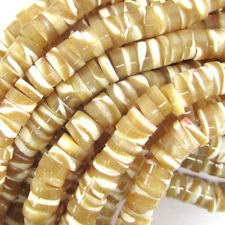- Natural Mother of Pearl MOP Heishi Beads Gemstone 15.5