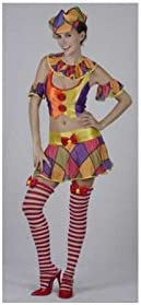 JUGUETILANDIA Disfraz Payasa Falda Corta Mujer Talla XL: Amazon.es ...