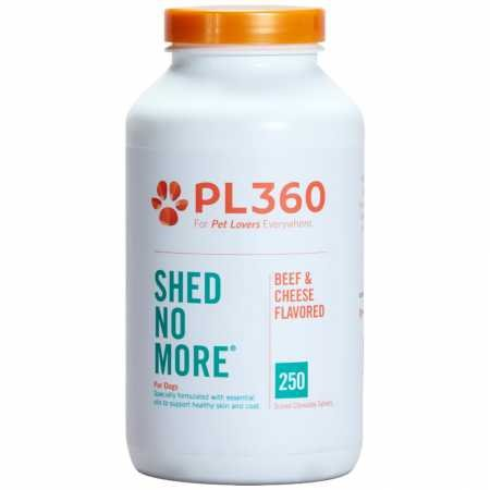 PL360 Shed No More Chewable Supplement for Dogs, 250 Count