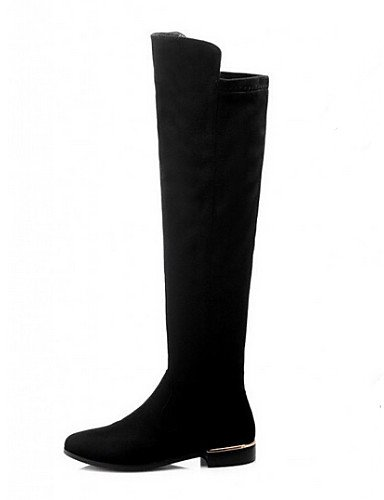 us6 Negro Puntiagudos Botas 5 Zapatos Uk6 Eu37 Uk4 Black Cn39 De 7 Xzz 5 Casual 5 us8 Cn37 Eu39 Tacón Stiletto Poliéster Mujer Black zanXY