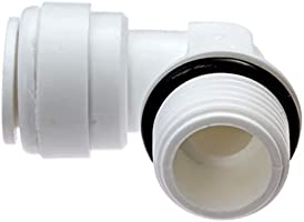 1//2 tube x 1//2 NPT Male quick-connect fittings Avanti 1//2 tube to 1//2 NPT Male Connector for drinking water filter RO reverse osmosis QF-MC0808x3 Pack of 3