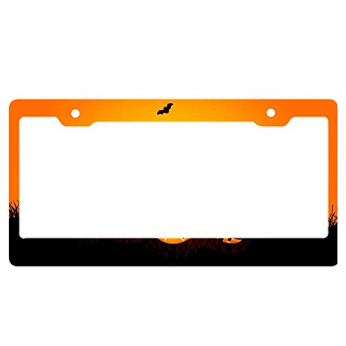 luckmx Super Sharp Colors and Graphics Standard Size License Plate Frame Will Never Rust or corrode - Halloween HD Wallpapers ()