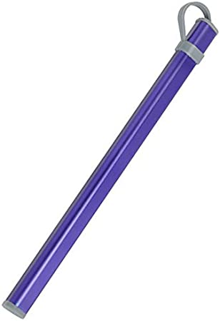 SODIAL(R) - Portabaquetas de aleación de aluminio - Estuche para baquetas de titanio - Caja sin baquetas - Color morado: Amazon.es: Hogar