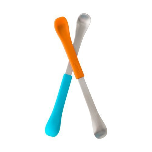 Boon Swap Baby Utensils,Blue/Orange Color: Blue/Orange Size: 1 pack NewBorn, Kid, Child, Childern, Infant, Baby