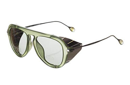 (Gucci GG Green 3737/S Gray Lens Side Shield Sunglasses)