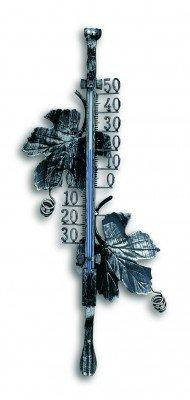 Exterior termómetro Hierro forjado Arce Hojas de marco, SF de TFA