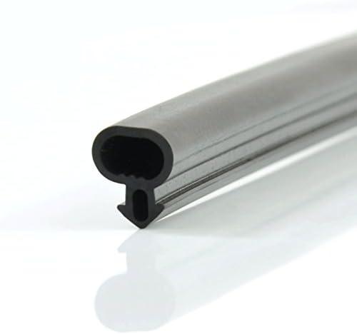 DQ-PP 1m Joint de fenetre et portes remplacement S-1127 PVC ALU noir EPDM par metre