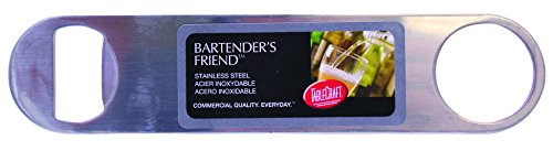 Tablecraft H3996 Small Bartender's Friend Stainless Steel Flat Bottle Opener, 7
