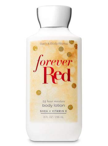 Bath and Body Works FOREVER RED Super Smooth Body Lotion 8 Fluid Ounce (2018 Limited - Lotion Forever Body