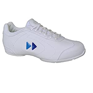 Kaepa Women's Delta Cheer Shoe with Color Change Snap in Logo, White, Size 7.5