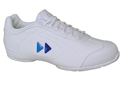 Delta Snap (Kaepa Women's Delta Cheer Shoe with Color Change Snap in Logo, White, Size 6.5)