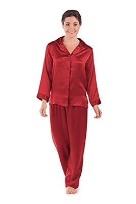 TexereSilk Women's Luxury Silk Pajama Set (Morning Dew) Beautiful Gifts