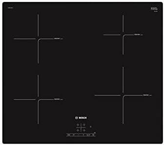 Opinión sobre Bosch PUE611BF1J hobs Negro Integrado Con - Placa (Negro, Integrado, Con placa de inducción, Cerámico, Tocar, Parte superior delantera)