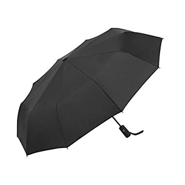 Travel Umbrella by Vanwalk,  Dupont Teflon  - 10-Rib Windproof Frame with Automatic Open/Close, Compact and Lightweight (45 inch, Black)