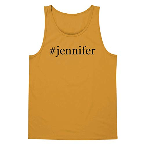 #Jennifer - A Soft & Comfortable Hashtag Men's Tank Top, Gold, Large