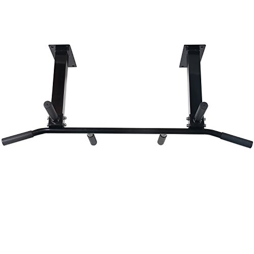 Cloud Mountain Wall Ceiling Mounted Home Pull Up Bar Fitness Bar Chin Up Bar Heavy Duty Biceps Back Abdominal Hyperextension Multi Function for Home Gym Exercise Fitness Workout Training, Black