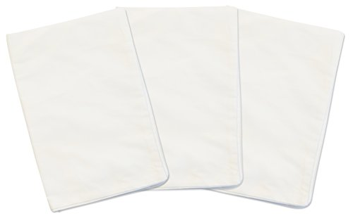 3 White Toddler Pillowcases - For Pillows Sized 13x18 - 100% Cotton With Percale Weave - Envelope Style Closure - Machine Washable - Zadisonjaxx Basics Collection - 3 Pack by Zadisonjaxx
