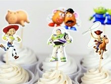 DIsney Toy Story Cupcake Toppers Birthday Party Supplies Favors Pack of 24]()