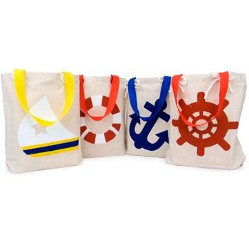 (Fun Express Nautical Theme Canvas Small Tote Bags - 1)