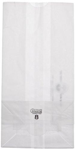 Bagcraft Papercon 300298 Dubl Wax SOS Bag, 8-lb Capacity, 12-3/8