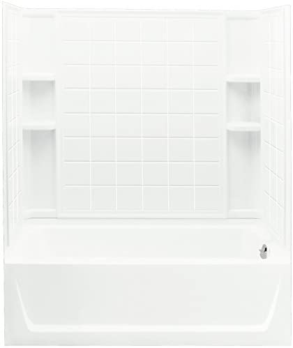 STERLING 71120122-0 Ensemble Bath and Shower Kit, 60-Inch x 32-Inch x 76-Inch, Right-Hand, White