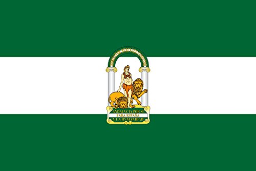 magFlags Large Flag Andalusia | landscape flag | 1.35m² | 14.5sqft | 90x150cm | 3x5ft - 100% Made in Germany - long lasting outdoor flag