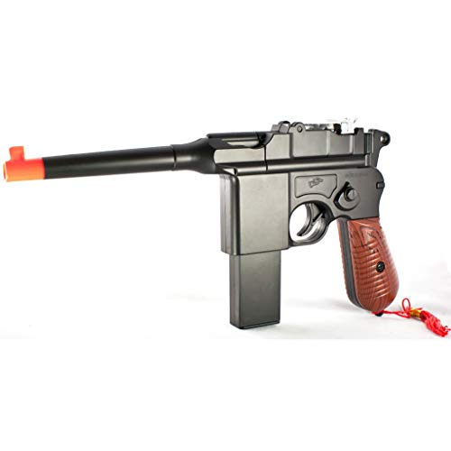 Blossom store w/ 6mm BB New WW2 MAUSER BROOMHANDLE C96 Modern German Airsoft Spring Hand Gun Pistol