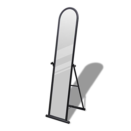 K Top Deal Floor Mirror Free Standing Cheval Dressing Mirror, Black Top Cheval