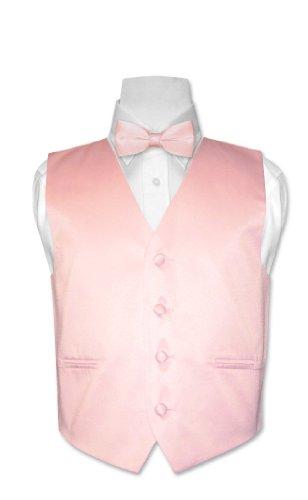 - Covona BOY'S Dress Vest BOW TIE Solid PINK Color BowTie Set sz 6