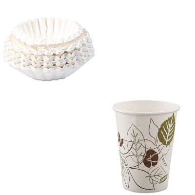 KITBUN1M5002DXE2338WSPK - Value Kit - Dixie Pathways Paper Hot Cups (DXE2338WSPK) and Bunn Coffee Commercial Coffee Filters (BUN1M5002)