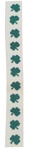 Suspender Factory, St.Patrick's Day Green Shamrock On White Clip Suspender
