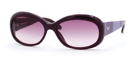 Amazon.com: Emporio Armani EA 9351 S Sunglasses Dark violet ...