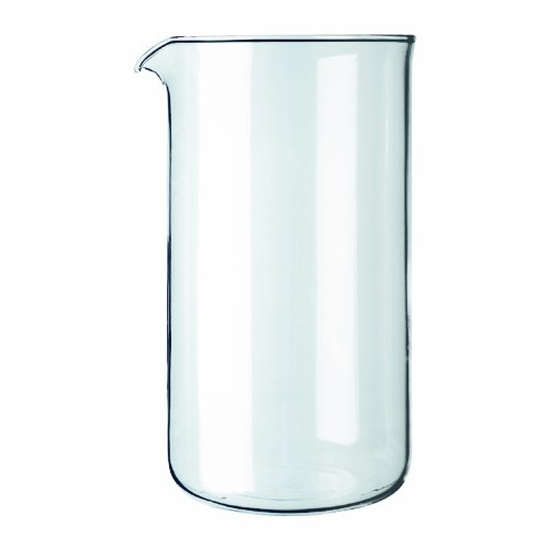 Bodum Spare Glass Carafe for French Press Coffee Maker, 8-Cup, 1.0-Liter, 34-Ounce
