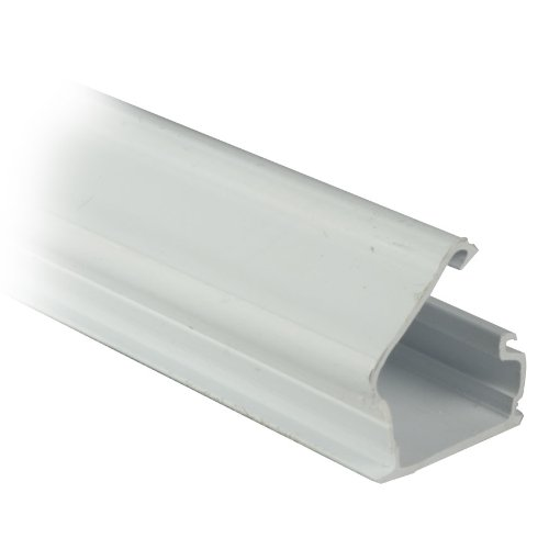 GadKo 1.25 inch Surface Mount Cable Raceway, White, Straight 6 foot Section