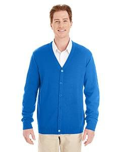 Sweater V-neck Vest Performance (Harriton Mens Pilbloc V-Neck Button Cardigan Sweater (M425) -TRUE ROYAL -XL)