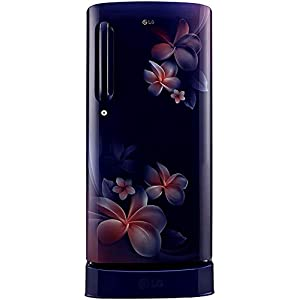 LG 190 L 4 Star Inverter Direct-Cool Single Door Refrigerator (GL-D201ABPY, Blue Plumeria, Moist 'N' Fresh)